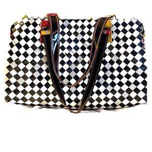 Unique book bag or shoulder purse.
